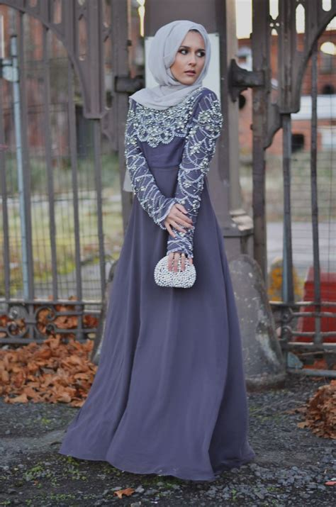 Setelan Kebaya Cape Light Grey formal wear fancy abaya collection for muslim