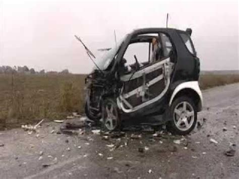 smart car crash smart car crash test