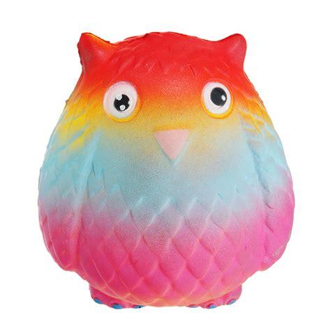 Squishy Yellow Owl jumbo squishy rainbow owl 12cm soft rising with