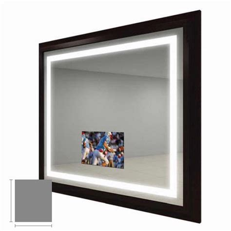 electric mirror bathroom electric mirror momentum 41 quot x 47 quot lighted mirror tv