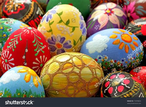 beautiful easter eggs easter egg hand painted beautiful colorful stock photo