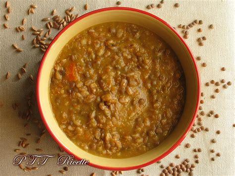 cucinare farro zuppa farro e lenticchie ricetta ricette con farro