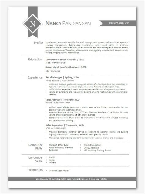 Resume Te by Modern Microsoft Word Resume Template Nancy Pandiangan