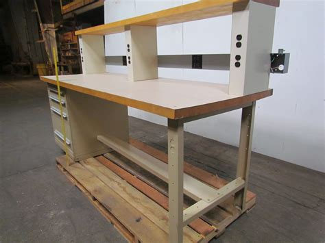 stanley work bench stanley vidmar workbench 36x96 hardwood top w riser 4