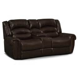 reclining loveseat galveston leather dual reclining loveseat value city