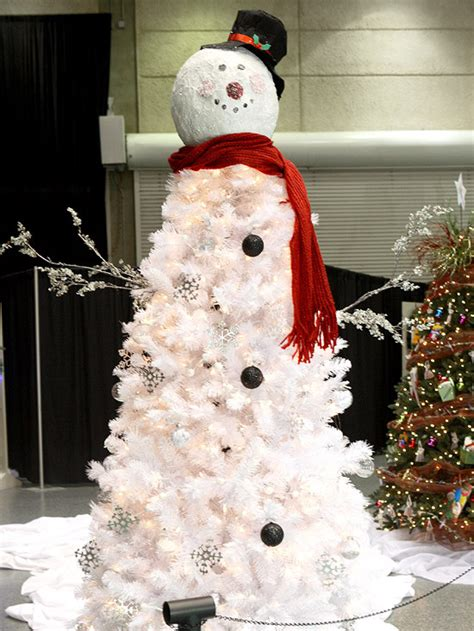 frosty snowman christmas tree ideas unique tree ideas for home garden bedroom kitchen homeideasmag