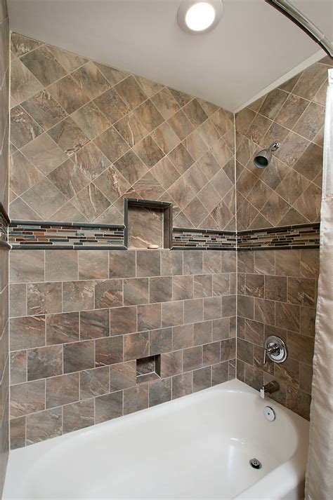 How To Tile A Bathroom Shower Wall How To Tile A Bathtub Area Home Improvement