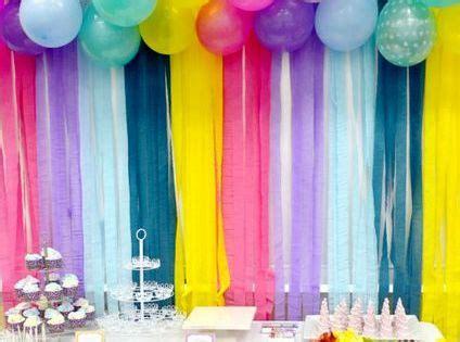 decorar pared con globos y papel crepe decorar pared con globos y papel crepe para cumplea 241 os