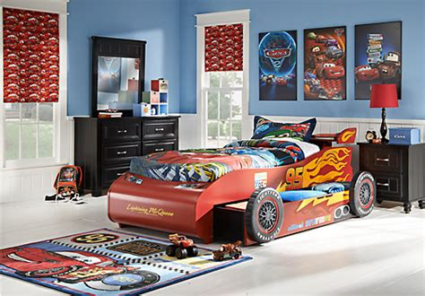 Lightning Mcqueen Bedroom Set | disney cars twin black 8pc novelty bedroom disney cars