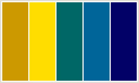 yellow and blue color scheme colorcombo144 with hex colors cc9900 ffde00 006666