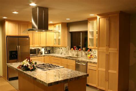granite countertop colors for maple cabinets