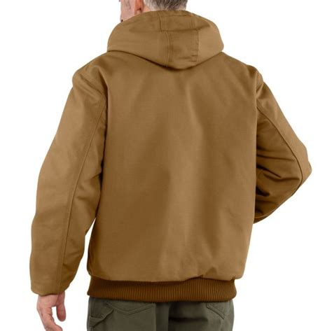 Carhartt Quilted Flannel Lined Duck Active Jacket by Tidewater Safety Shoes S Duck Active Jac Quilted