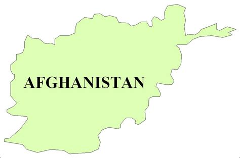 Afghanistan Country Map Outline by Blank Map Of Afghanistan Clipart Best