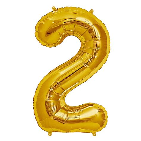 Number Foil Balloon 34 quot gold foil number balloon two