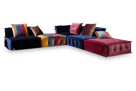 multi color sectional sofa chloe multi colored fabric sectional sofa centerfieldbar com