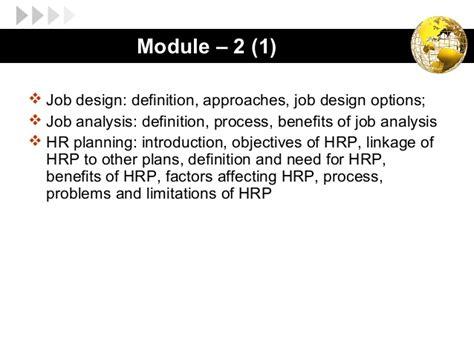 job design hrm definition hrm mod 2 1 job design