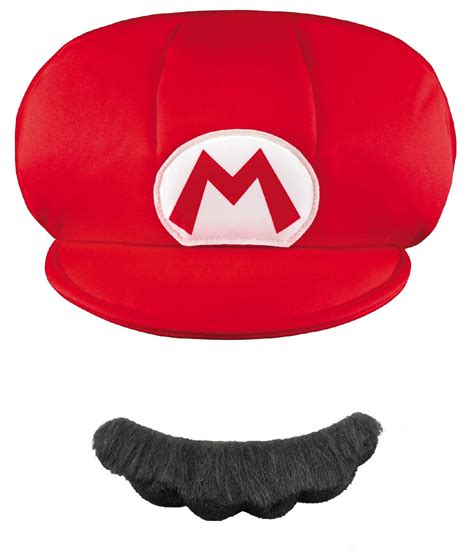 How To Make A Mario Hat Out Of Paper - buy mario brothers mario hat and mustache