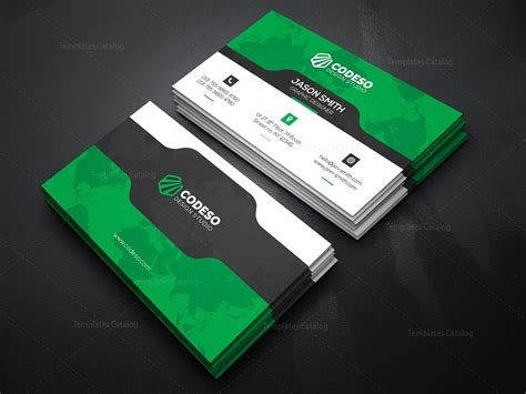 busienss card design templates business card template with futuristic design 000370