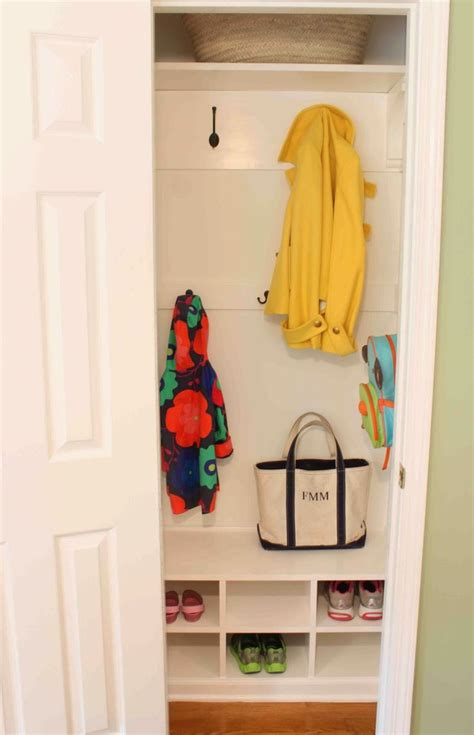 mudroom in a closet home sweet home