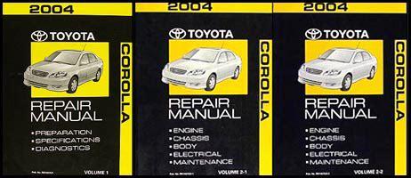 2005 toyota corolla factory service manual set original shop repair factory repair manuals 2004 toyota corolla 2 volume set repair shop manual original