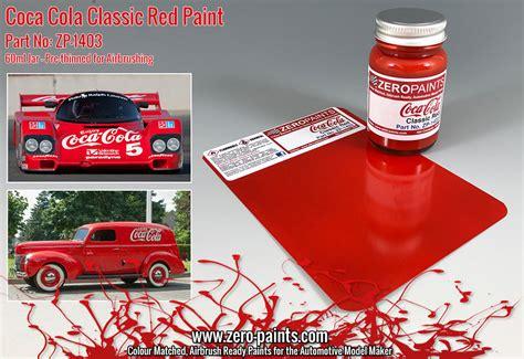 coca cola classic red paint ml zp   paints