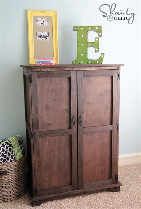 armoire pottery barn pottery barn inspired armoire free plans shanty 2 chic