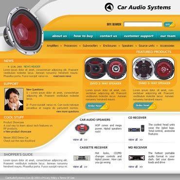 Car Audio Website Templates Speaker Website Templates