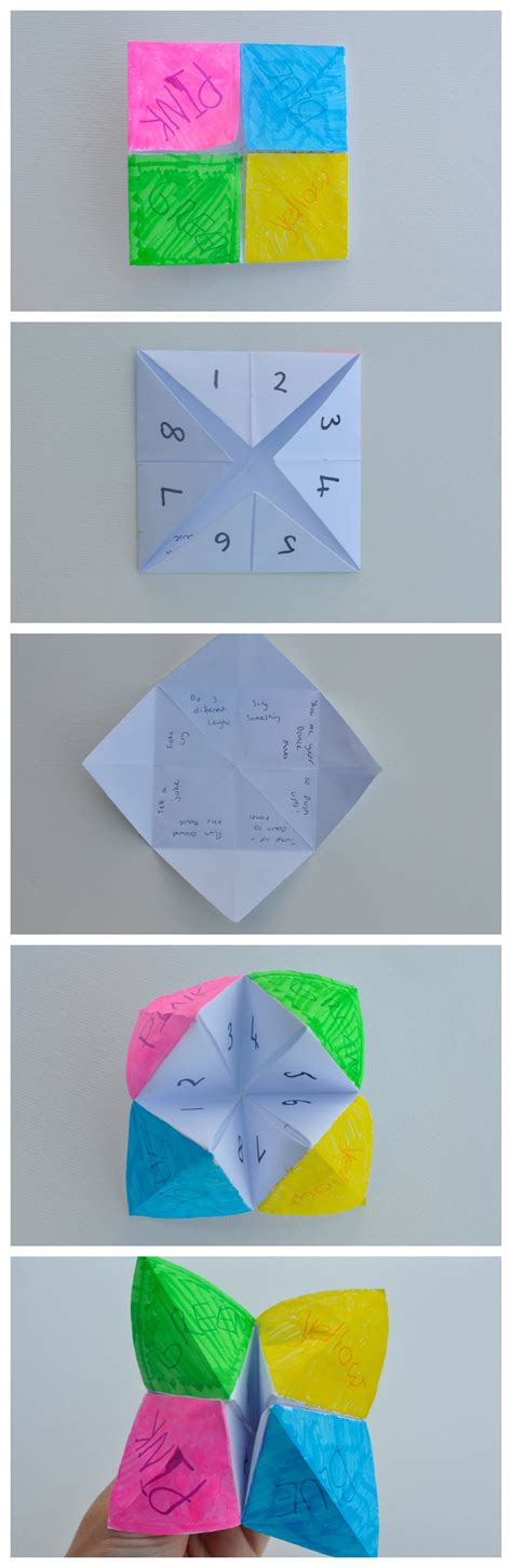 How To Make A Chatterbox Out Of Paper - chatterbox be a