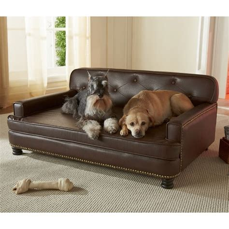 dogs couch encantado espresso dog sofa bed luxury dog beds at