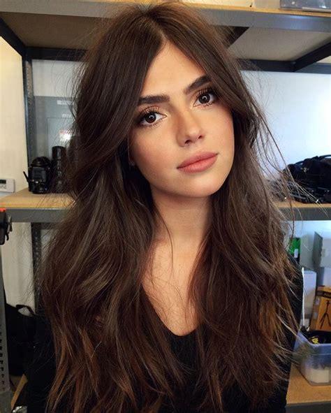 celebrities with brown hair arina perchik being thoughtful makeup hair hair