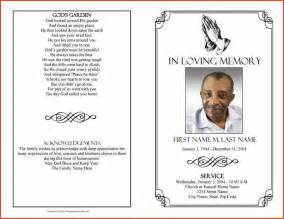 memorial service templates free memorial service program template proposalsheet
