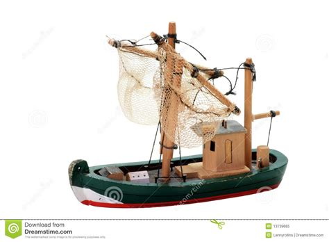 toy boat fishing wooden fishing boat toy royalty free stock photo image