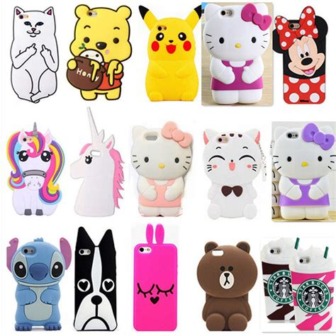Iphone5 3d Kisd 3d cool disney puppet lanyard silicone cover for iphone 6g s 7 plus ebay