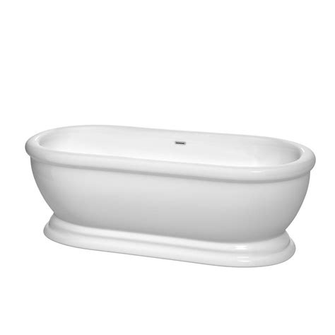wyndham collection bathtub wyndham collection mary 5 7 ft acrylic classic flatbottom