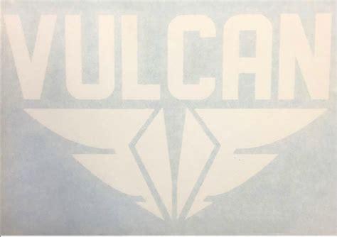 Cutting Sticker Abs 9cm vulcan fins die cut sticker white