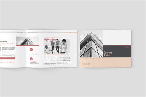 company profile indesign template company profile landscape template adobe indesign template