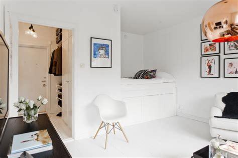 Ways To Rearrange Your Bedroom 377ft2 scandinavian studio apartment in black and white