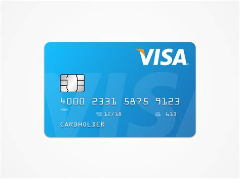 Visa Card Template by Visa Card Template Free Sketch Apemockups
