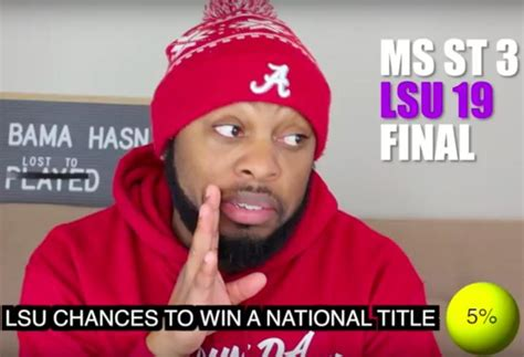 how alabama fans watched comedian jermaine funnymaine johnson parodies how