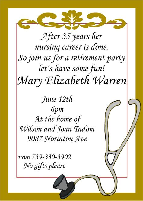 free retirement invitations templates retirement invitations custom designed new for