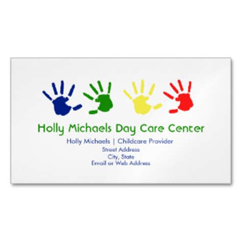 Childcare Business Template Magnetic Business Cards Templates Zazzle