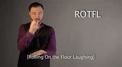 Rolling On The Floor Laughing Gif by Sign Language Asl Gif By Sign With Robert Find