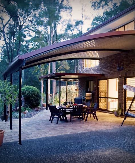 stratco awnings stratco outback curved roof awnings carports pergolas
