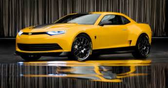 transformers new cars bumblebee using striking new camaro concept in transformers 4