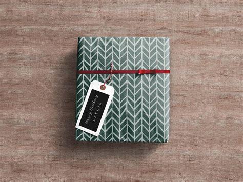 gift box wrap gift box mockup mockupworld