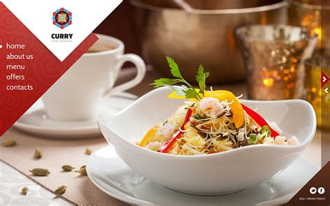 Indian Restaurant Website Template 45259 Indian Restaurant Website Templates