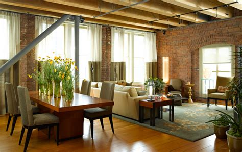Interior Decor Kitchen Hensel Design Studios Portfolio Classic Brick Loft