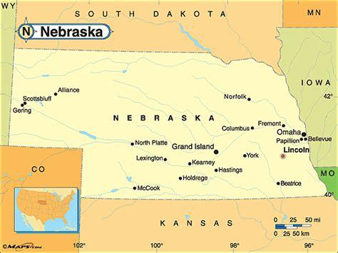 map usa nebraska nebraska deaf bikers webpages