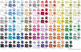 color comparison sticky lego color overview comparison charts