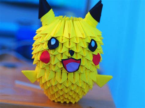 How To Make A 3d Origami Pikachu - 3d origami pikachu by gracy2227 on deviantart